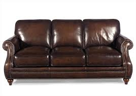Omnia Leather Sofa Brown Leather Couch With Studs Wpzkinfo