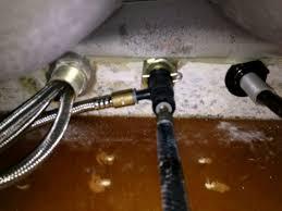 antique brass low water pressure kitchen faucet but sprayer fine