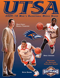 2009 10 utsa men u0027s basketball media guide by utsa athletics