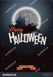 halloween party poster happy holiday background stock vector