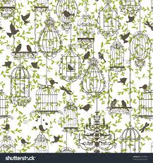 wallpaper with birds and birdcages u2013 liqj