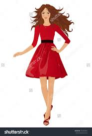 woman in dress clipart