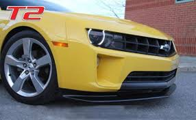 camaro rs v6 acs t2 front splitter for 2010 2011 2012 2013 camaro rs lt ls v6
