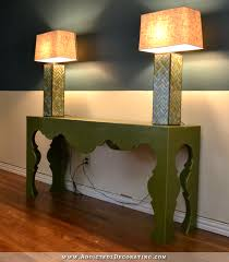Green Console Table My New Green Console Table