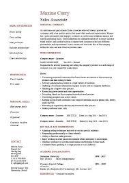 Resume Objective For Retail Sales Associate Sales Associate Resume Sample Jennywashere Com