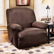 sure fit stretch leather recliner slipcover brown walmart com