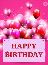 send this beautifull greeting balloons pink birthday balloon card birthday greeting cards by davia