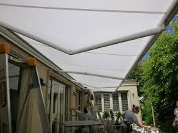 Retractable Pergola Awning by Sunblind Awning Installation Crane Scissor Lift Brick Render Tiles
