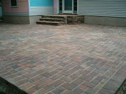 exterior wonderful backyard decoration with paver patio step