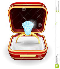 wedding ring in a box engagement rings in gift box stock vector illustration 35539700