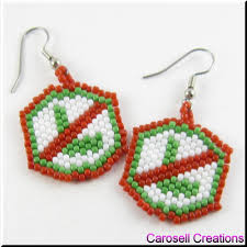 noel no l christmas holiday seed bead earrings by