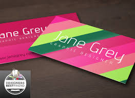 free bright pink and green business card template designers best