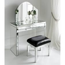 Glass Vanity Table With Mirror Rimini Mirrored Dressing Table Set