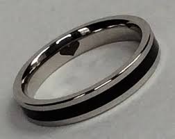womens titanium wedding bands titanium ring women etsy