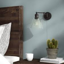 bedroom wall sconces plug in wall sconces you ll love wayfair