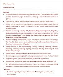 Qtp Resume Software Engineer Resume Example 9 Free Word Pdf Documents