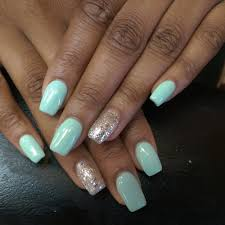 acrylic square nails with gel polish by christine yelp