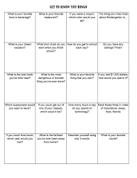 get to know you worksheets get to know you bingo c kristen