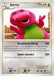 Barney Meme - pok礬mon barney 655 655 emotional song my pokemon card