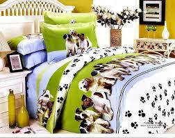 Dog Duvet Covers Dog Pet Design Queen Bed Quilt Comforter Duvet Cover Sets 4pc