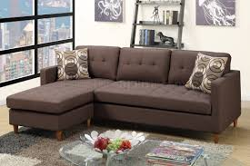 Fabric Sectional Sofa F7086 Reversible Sectional Sofa In Chocolate Fabric By Boss