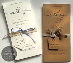 Single Card Wedding Invitations A Wedding Invitation On A Single Foldable Sheet The Stationery