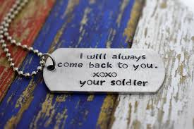 Personalized Dog Tag Necklace Hand Stamped I Will Always Come Back To You Dog Tag Necklace