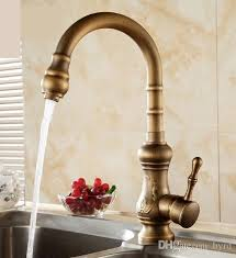 kitchen faucet brass discount antique brass kitchen faucet bronze finish water tap