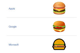 second world war emoji google ceo makes fixing hamburger emoji his top priority the verge