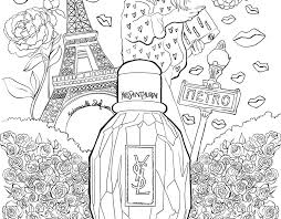 Coloriage  parfum Parisienne Yves Saint Laurent I Mademoiselle Stef