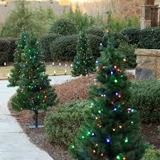 outdoor decorations 3 u0027 walkway pre lit winchester fir tree 100