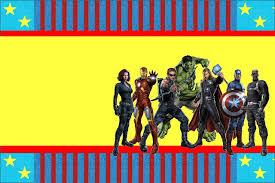 avengers birthday card template birthday invitation free avengers