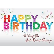 blessing cards greeting cards happy birthday wishing you god s richest blessings