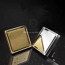 2017 square tile in floor drain 4 inch brass rustproof with with
