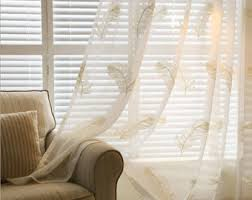 Sheer Off White Curtains Feather Curtains Etsy