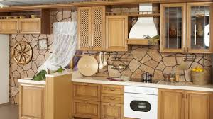 Rustic Kitchen Backsplash Kitchen Style Rustic Kitchen With Wooden Cabinet Awesome Beige