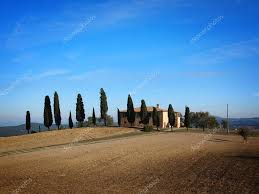 tuscany house tuscan house with cypress trees u2013 stock editorial photo pljvv1