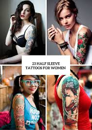 23 half sleeve tattoos for women styleoholic