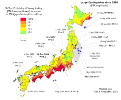 Us Geological Earthquake Map Damaging Japan Earthquake Strikes Between Two Recent Large Shocks