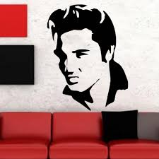 aliexpress com buy high quality vinyl wall sticker large elvis aliexpress com buy high quality vinyl wall sticker large elvis presley guitar music icon wall decoration art mural sticker decor es 4 from reliable mural
