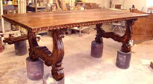 Unfinished Kitchen Table And Chairs Hand Carved Dining Table U2013 Mitventures Co