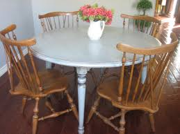 Round Wooden Kitchen Table And Chairs Starrkingschool Dining Rooms - Ethan allen maple dining room table