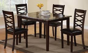 dining table set low price casual dining room decor with 5 pieces cheap granite top dinette