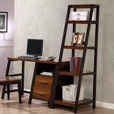 desk computer desk bookshelf combination solid wood household