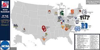 Nba Divisions Map Ncaa Men U0027s Basketball Billsportsmaps Com