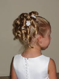 flower hairstyle half up with braids and curls hairstyles