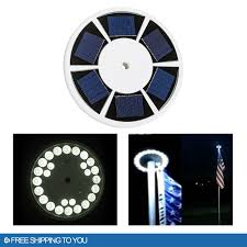 Flag Pole Lights Solar Powered Waterproof Automatic Solar Powered Flag Pole Light 26 Led Outdoor
