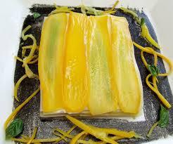 cuisiner courgette jaune lasagnes fraîcheur à la courgette jaune aux tomates confites et