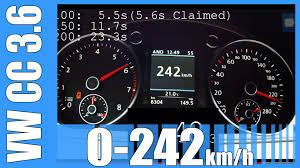 vw cc 3 6 v6 fast 0 242 km h 300 hp launch control acceleration
