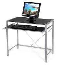 Big Desks by Glass Computer Desk Black Big W